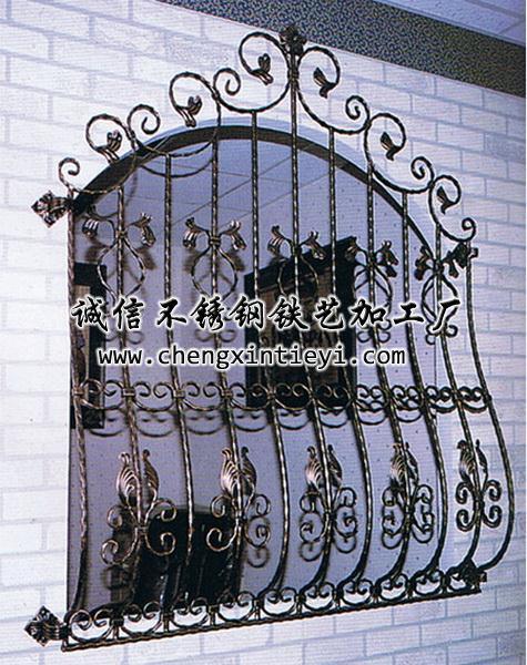 铁艺防盗窗; 上海铁艺围栏