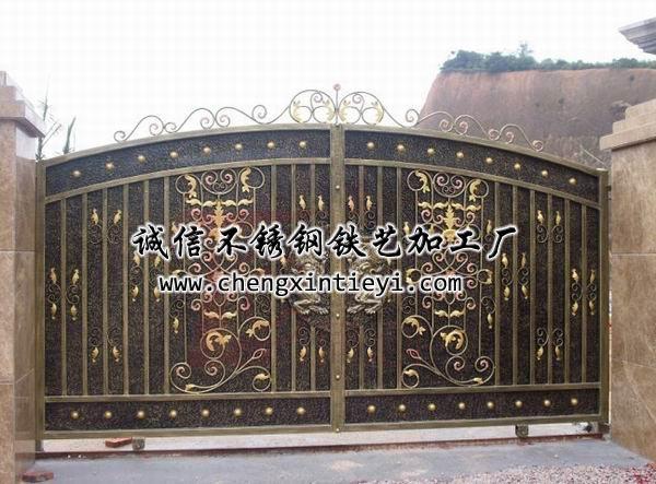 铁艺大门37 - 诚信不锈钢铁艺加工厂