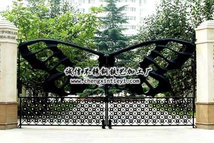 大门植物景观配置手绘平面图