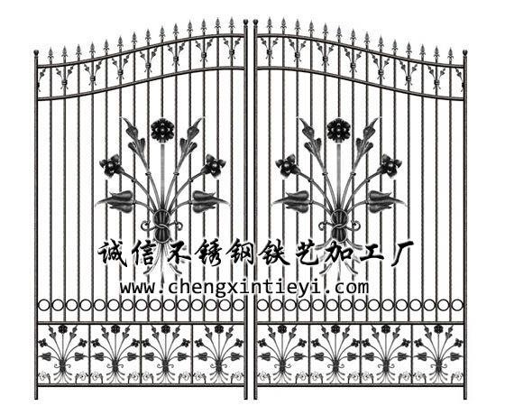 铁艺大门效果图2 - 诚信不锈钢铁艺加工厂